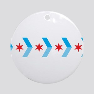 Arrow Chicago Flag Ornament (Round)
