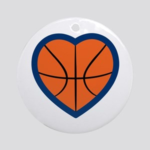 BASKETBALL HEART Ornament (Round)