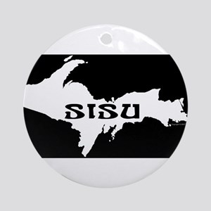 SISU - Michigan's Upper Penin Ornament (Round)