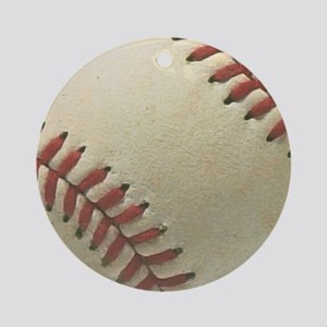 Baseball Round Ornament