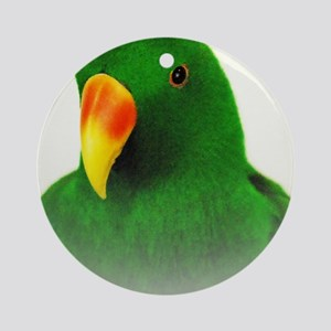 Male Eclectus Round Ornament