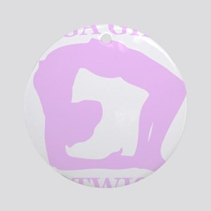Yoga Girls are Twisted Round Ornament