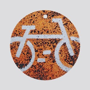 Bicycle sign Round Ornament