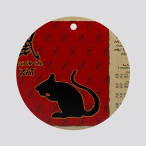 czodiac-01-rat Round Ornament