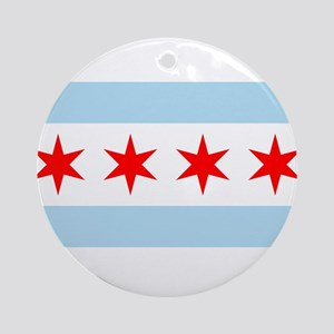 Flag of Chicago Ornament (Round)