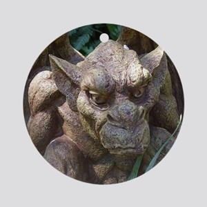 Photo of Gargoyle Statue Round Ornament