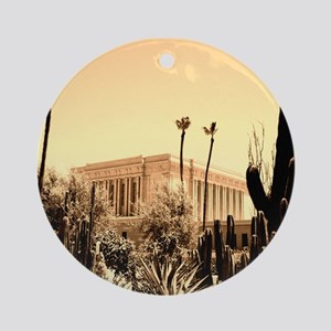 LDS Mesa Temple Ornament (Round)