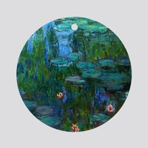 monet nymphea lily pond giverny Ornament (Round)