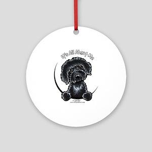 Black Labradoodle Ornaments - CafePress