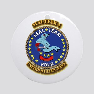 US - NAVY - Seal Team 4 Ornament (Round)