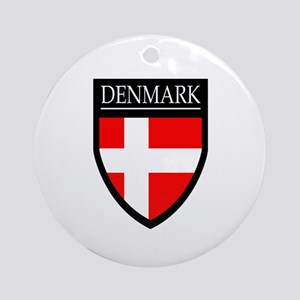 Denmark Flag Patch Ornament (Round)