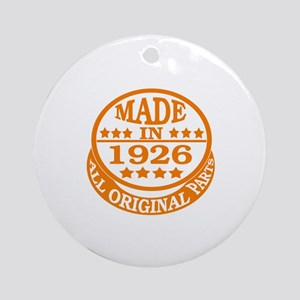 Made in 1926, All original parts Round Ornament