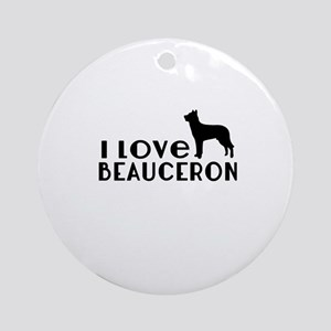 I Love Beauceron Round Ornament