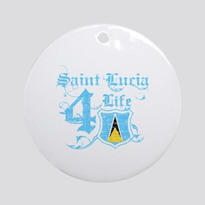 Saint Lucia for life designs Ornament (Round)