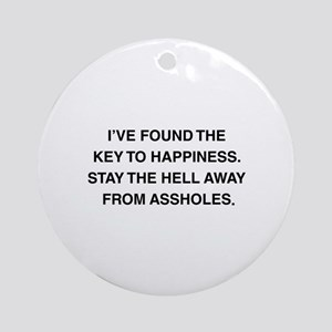 Key To Hapiness Ornament (Round)
