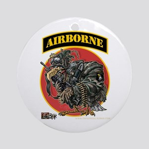 101 Airborne Eagle Ornament (Round)