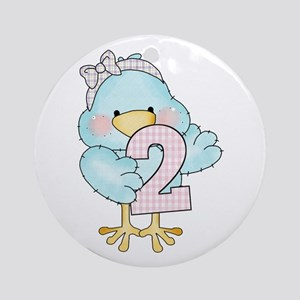 2nd Birthday Bird Ornament (Round)