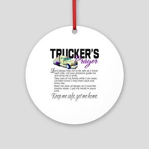 Trucker's Prayer Ornament (Round)