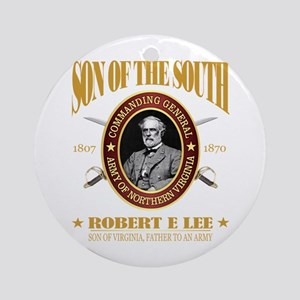 General Robert E Lee Round Ornament