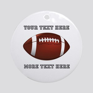 Personalized Football Round Ornament