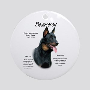 Beauceron Round Ornament