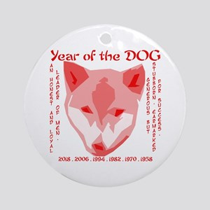 Year Of The Dog Ornaments - CafePress