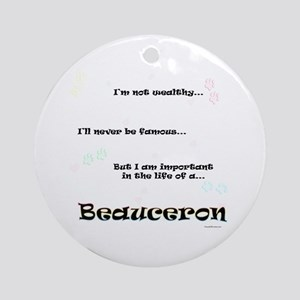 Beauceron Life Ornament (Round)