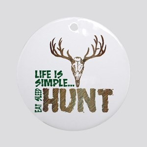 Eat Sleep Hunt Ornament (Round)