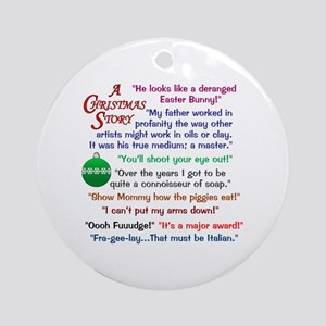 A Christmas Story Ornaments.Christmas Story Quotations Ornaments Cafepress