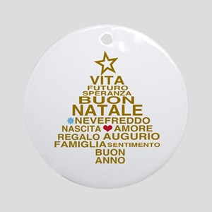 Buon Natale Ornament.Italian Christmas Ornaments Cafepress