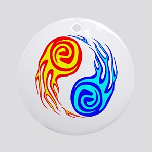 6b77e738c Fire & Water Yin Yang Tattoo Ornament (Round)