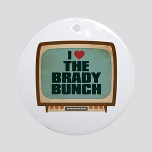 Retro I Heart The Brady Bunch Round Ornament