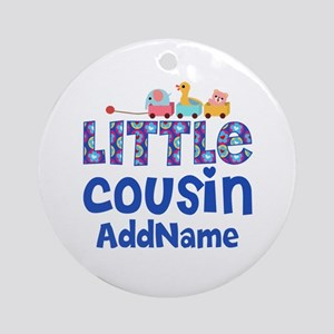 Personalized Little Cousin Ornament (Round)