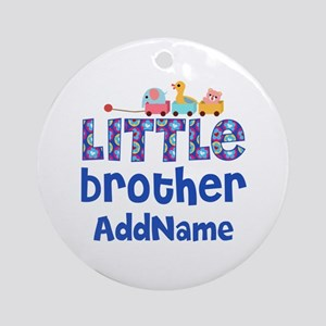 Personalized Little Brother Ornament (Round)