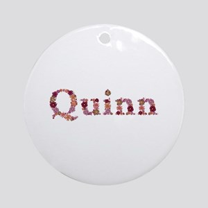 Quinn Pink Flowers Round Ornament