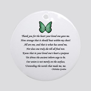 Kidney Donors Thank You Poems Ornaments - CafePress