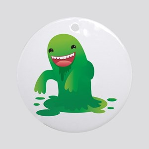 Green boogie monster Round Ornament