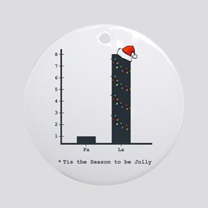 Christmas Bar Graph Round Ornament