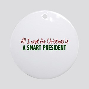 Smart President for Christmas Ornament (Round)