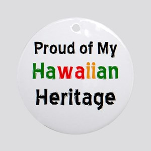 hawaiian heritage Ornament (Round)
