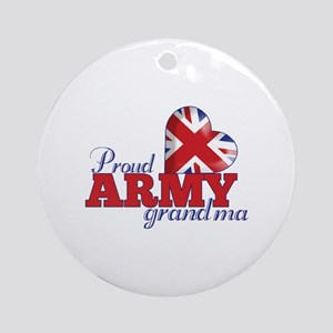 Proud Army Grandma - Ornament (Round)