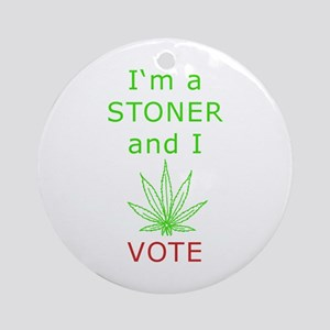 STONER VOTER Ornament (Round)