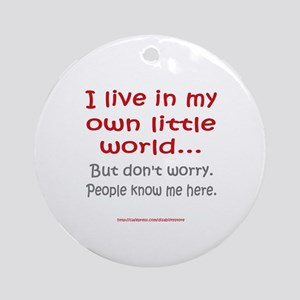 Own Little World Ornament (Round)