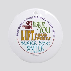 Surround Yourself Ornament (Round)