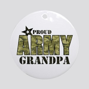Camo Proud Army Grandpa Ornament (Round)