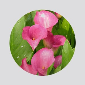 Zantedeschia 'Captain Romance' Round Ornament