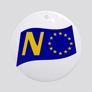 Just say NO to the EU! Round Ornament