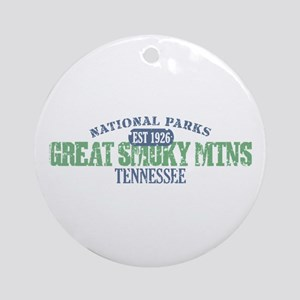 Great Smoky Mountains Nat Par Ornament (Round)