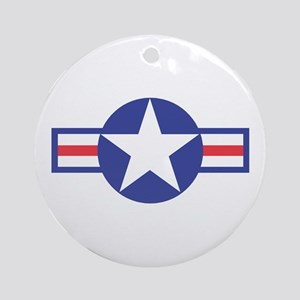 US USAF Aircraft Star Keepsake (Round)