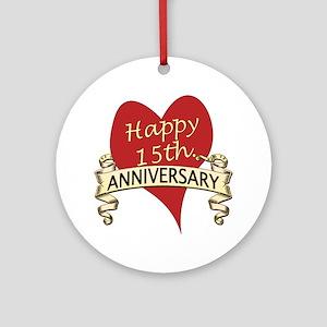 15th Wedding Anniversary.15th Wedding Anniversary Ornaments Cafepress